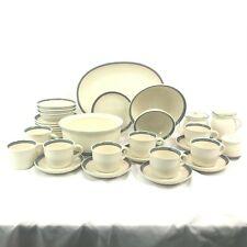 33 Piece Odd Lot Pfaltzgraff Juniper Serving Pieces Cups Saucers Bowls Platter