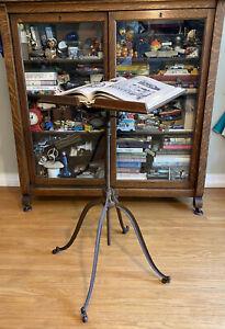 Elegant Victorian Oak & Cast Iron R.M. Lambie Bible Book Stand New York NY