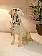 Sitting Golden Labrador Walkies Ornament Canine Gift Leonardo Collection