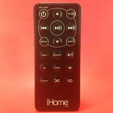 Genuine iHome iH9 Black Remote Control OEM iPhone / iPod Dock Alarm Clock Radio
