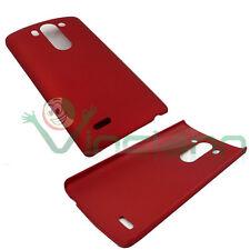Custodia back cover rigida ROSSA per LG G3 S D722 protezione plastica sottile