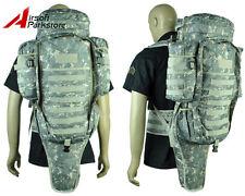 Airsoft Tactical Military Molle Full Gear Dual Rifle Gun Backpack Bag Case ACU