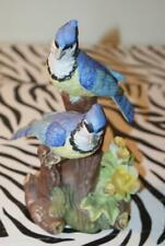 "Flambro Fine Porcelain Figurine ~ Pair of Blue Jays ~ (8"" Tall)"
