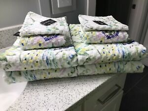 Nicole Miller Home 8 Piece Bath Towel Set Nwt