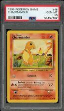 ✅ Charmander 1999 Pokemon Game Base Set Unlimited #46 PSA 10 GEM MINT QTY ✅