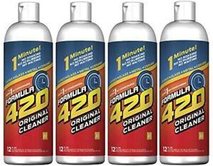 Formula 420 Glass Metal Ceramic Pipe Cleaner 12 Oz Bottles 4 Pack FREE SHIPPING