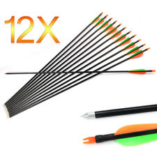"12x 32"" FiberGlass Arrows Archery Hunting Compound Bow Fiber Glass AU"