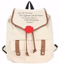 Harry Potter Hogwarts Letter Slouch Canvas Backpack New with Tags