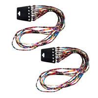Lot 10pcs Elegant Eyeglass Strap Chain Retainer Multicolor Cotton Blend Cord