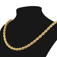 Cadena triple hilo para hombre 62 cm con oro amarillo gold filled 18 kt