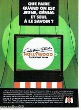 PUBLICITE ADVERTISING 116  1988  Créateur's Studio  Hollywood chewing gum & M6