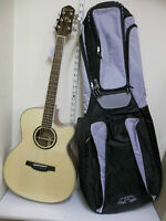 Crafter HTC1000 SEQnt electro-acoustic guitar & gigbag, new, waranteed