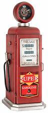 Edle vintage Zapfsäule Standuhr mit verstecktem Regal in rot aus Metall