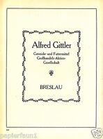 Getreide Gittler Breslau XL Reklame von 1923 Futtermittel Wroclaw Werbung ad