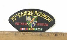 US Army - 75th Ranger Regiment - Vietnam Veteran with Ribbons Embroidered Patch
