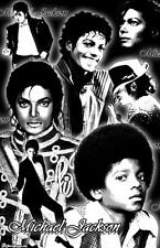 "MICHAEL JACKSON  11x17  ""Black Light"" Poster"