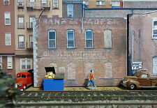 #111 HO scale background building flat  BANK SIDE  * FREE SHIPPING*