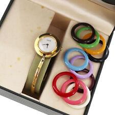 GUCCI Wrist Watch 11/12.2 Change Bezel Quartz Gold Swiss Vintage Auth #JJ5 I