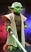 """Star Wars YODA """"JEDI WARRIOR"""" Life Size Prop -- 1:1 Fiberglass Lifesize Replica"""