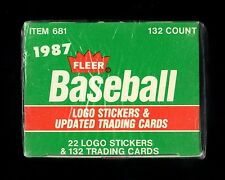 1987 FLEER UPDATE BASEBALL FACTORY SEALED CARD SET MADDUX, MCGWIRE MCGRIFF BURKS