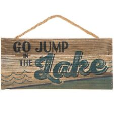 "LAKE HOUSE HOUSE DECOR RELAX REFRESH RENEW PADDLE /& OAR WOOD SIGN 23/"" X 13/"" New"