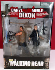 """WALKING DEAD 5"""" DARYL AND 5"""" MERLE DIXON MINT ON CARD FIGURES"""