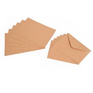 ewtshop® 100tlg. Set Kraftpapier Klappkarten und Briefumschläge aus Naturkarton
