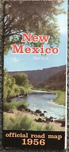 1956 NEW MEXICO Official State Highway Road Map