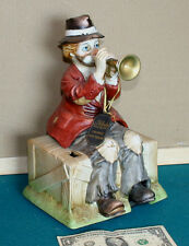 """Willie the Trumpeter "" Clown / Hobo  Melody in Motion Music Box"