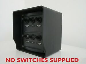 Boat switch panel box only. Black Made in Australia