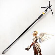 Overwatch OW Mercy Caduceus Staff Wand Weapon PVC Cosplay Prop Handmade