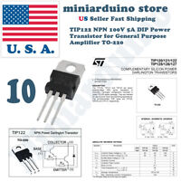 10pcs TIP122 NPN Transistor Complementary 100V 5A Amplifier TO-220
