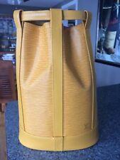 Authentic Louis Vuitton Epi Randonnee PM Tassil Yellow