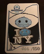 2019 Nycc Exclusive I Chomp Ny Abominable Snowman Limited Pin 6/150 Rare