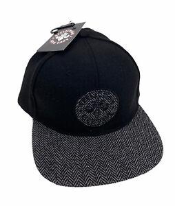 NEW Affliction Live Fast Snapback Hat Cap Gray Black Adjustable Mens NWT