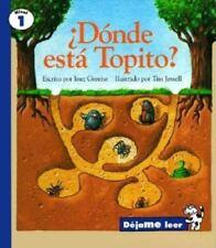 Where's Little Mole?, Spanish, Adonde Esta Mi Topito, Let Me Read-ExLibrary
