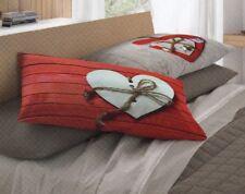 Completo lenzuola matrimoniale 2 piazze in flanella Co&Co rosso