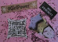 ACEO Mixed Media Collage Womens Rights Feminism Abstract Outsider Modern Pop Art