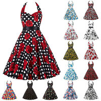 Ladies Retro Vintage Style Dress 60s 50s Swing Pinup Evening Party Cocktail Prom