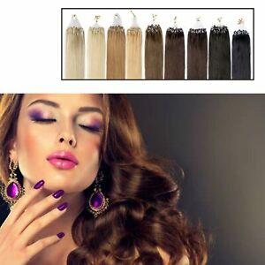 Pretty 0.5-1g Micro LOOP Remy Real Human Hair Extensions exuberant Excellent