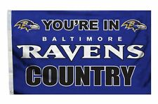 Baltimore Ravens 3x5 Country Design Flag [New] Nfl Banner Sign Fan Wall House