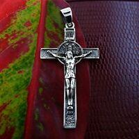 INRI Cross Crucifix Sterling Silver Pendant Christian Catholic Unisex Gift