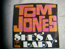 Tom Jones Signed 45 RPM Plus Picture Sleeve She's a Lady Valentine Parrot 40056