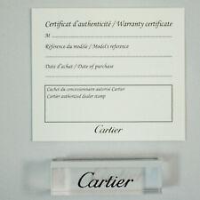 Certificat Cartier vierge  / Blank Cartier certificat