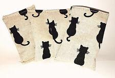 "Baldriankissen ""Black Cats"" für  Katzen Spielzeug Catnip Katzenminze Baldrian"
