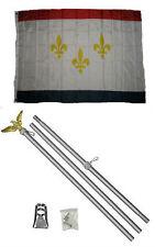 3x5 City of New Orleans Louisiana Flag Aluminum Pole Kit Set 3'x5'