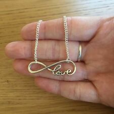 Handmade Silver Chain Infinity Love Connector Necklace