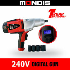 "Mondis 240V Impact 1/2"" Wrench (480NM) Automotive Kit Rattle Gun Adjst Torque"
