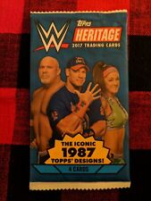WWE 2017 HERITAGE TRADING CARDS.1987 TOPPS DESIGN 4 CARDS PER PACK FACTORYSEALED