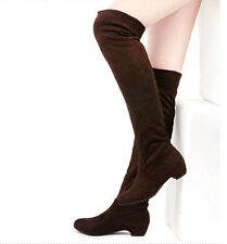 New Sexy Women Boot Winter Lady Fashion Block Heel Over The Knee Long Boot Shoe